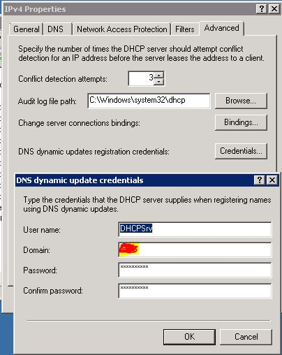 Dhcp not updating dns server 2003